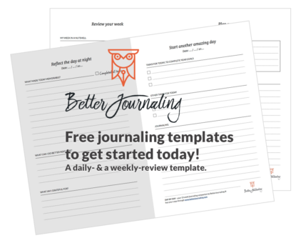 download free templates from BetterJournaling®
