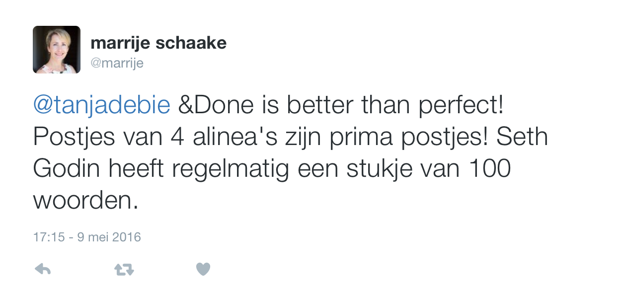 @marrije Done is better than perfect